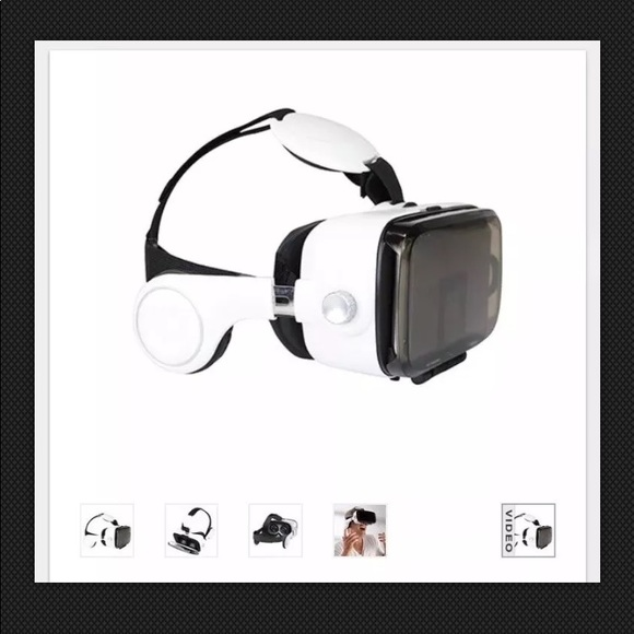 Sharper Image Other Smartphone Vr Headset With Earphones In White